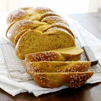 sliced pumpkin challah bread