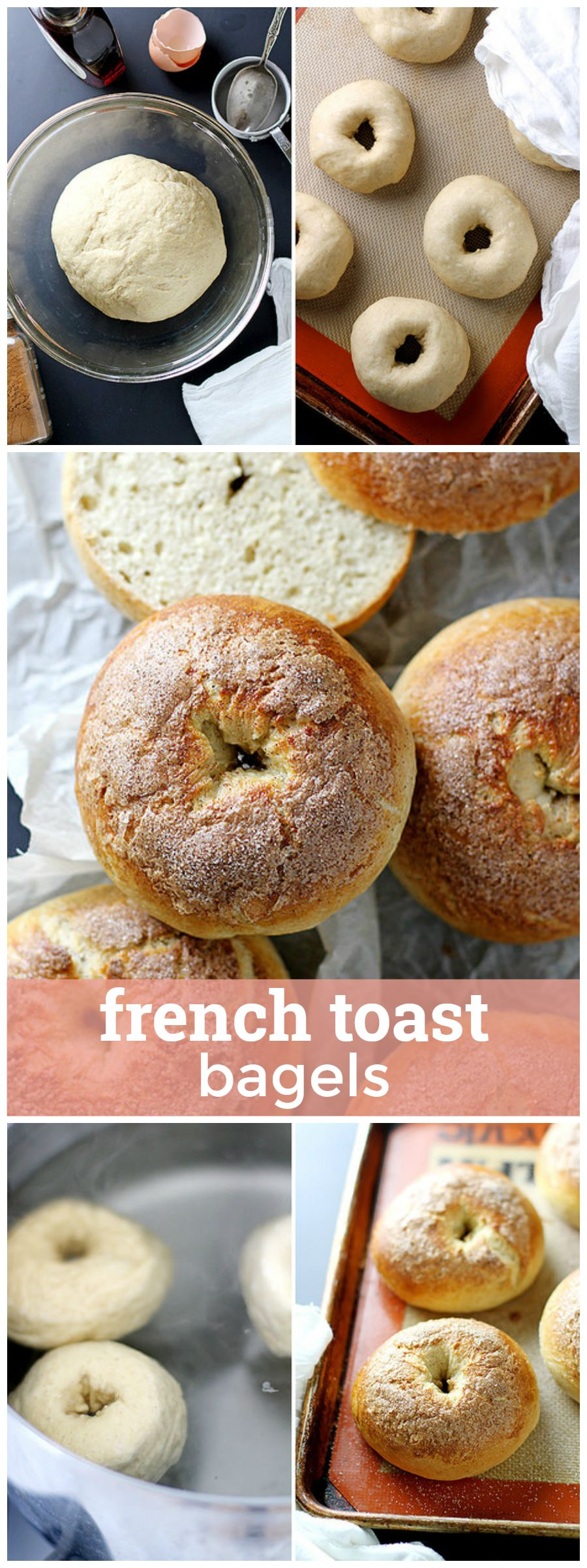 French Toast Bagels  Fluffy, Flavorful Bagels With A Cinnamon Crunch  Topping! Girlversusdough