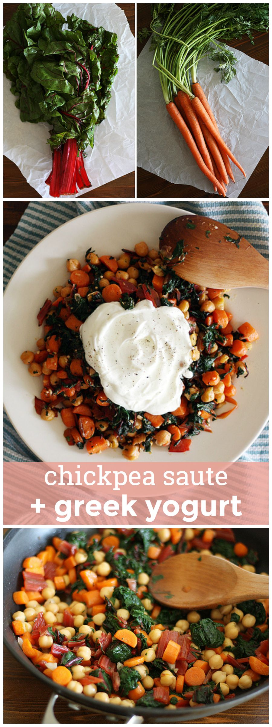 Chickpea Saute with Greek Yogurt -- Healthy, satisfying, hearty, delicious. girlversusdough.com @girlversusdough