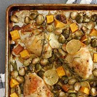 one pan lemon rosemary chicken thighs