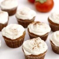 persimmon spice cupcakes