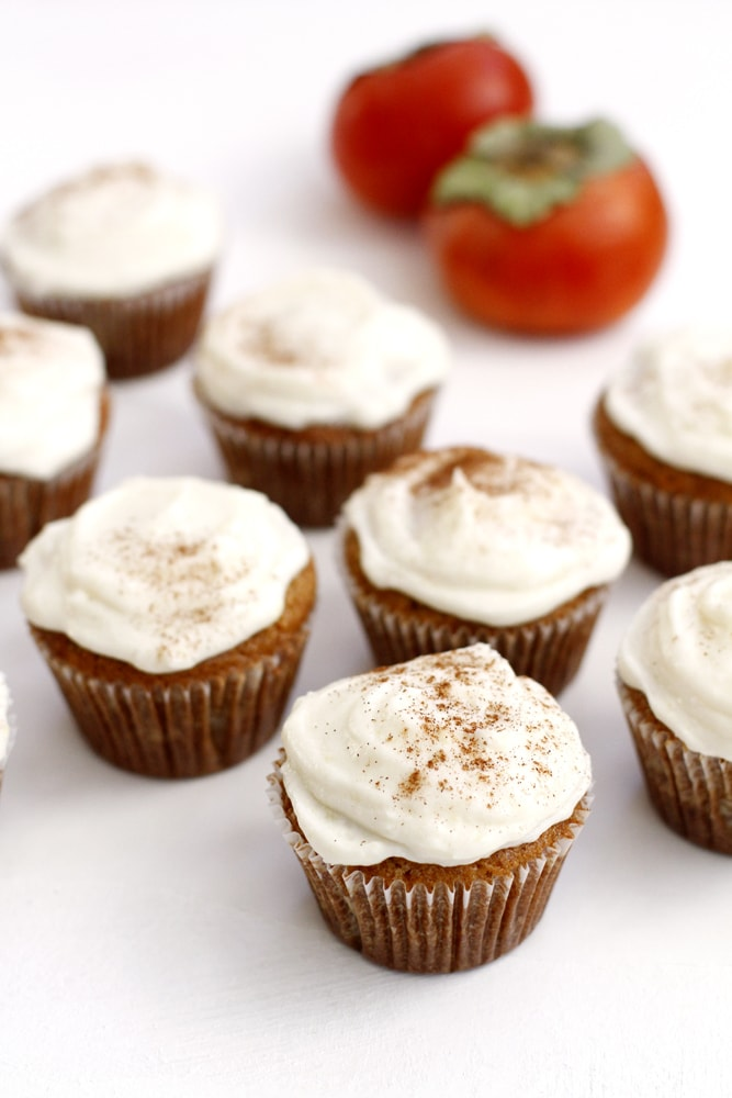 persimmon spice cupcakes