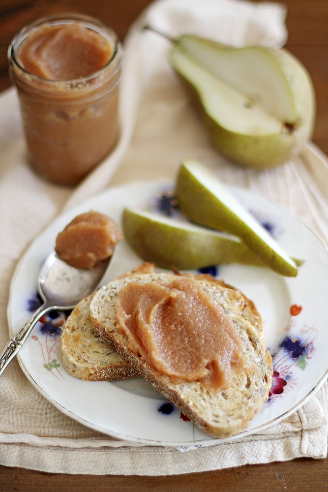 slow cooker pear quince butter