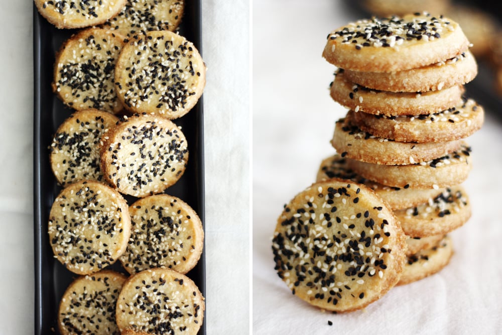 sweet and salty sesame cookies