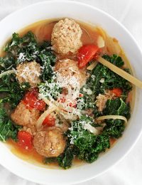 30-Minute Lighter Italian Wedding Soup