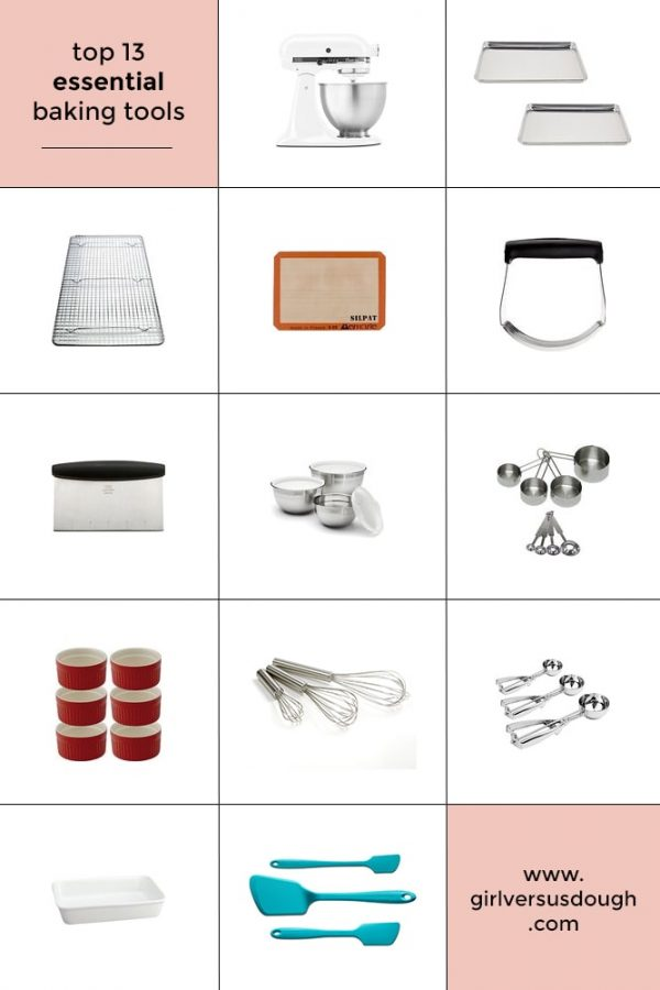 essential baking tools chart