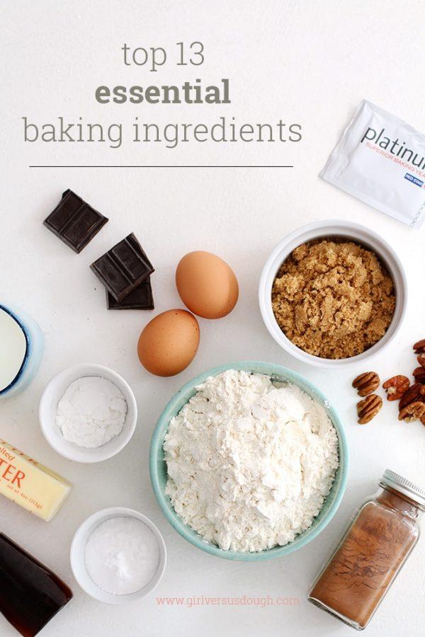 top 13 essential baking ingredients