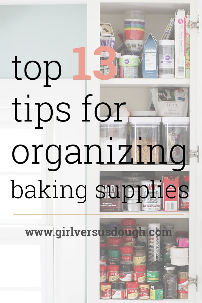 tips for organizing baking supplies
