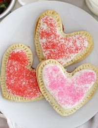 heart shaped strawberry pop tarts