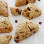 whole wheat chocolate chip banana scones