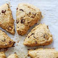 chocolate chip banana scones