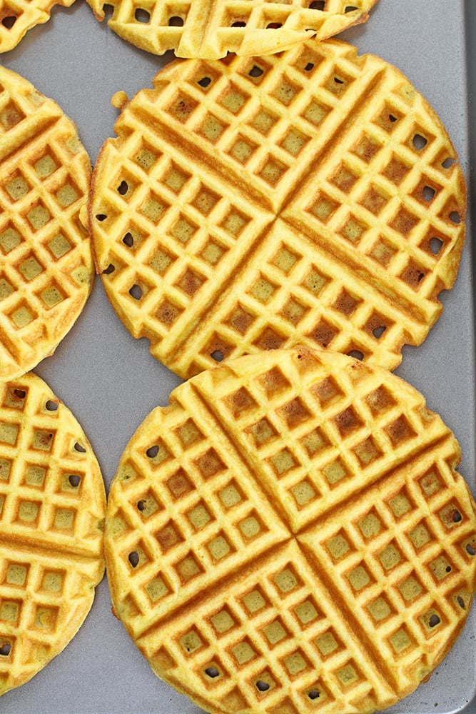 fluffy coconut flour waffles