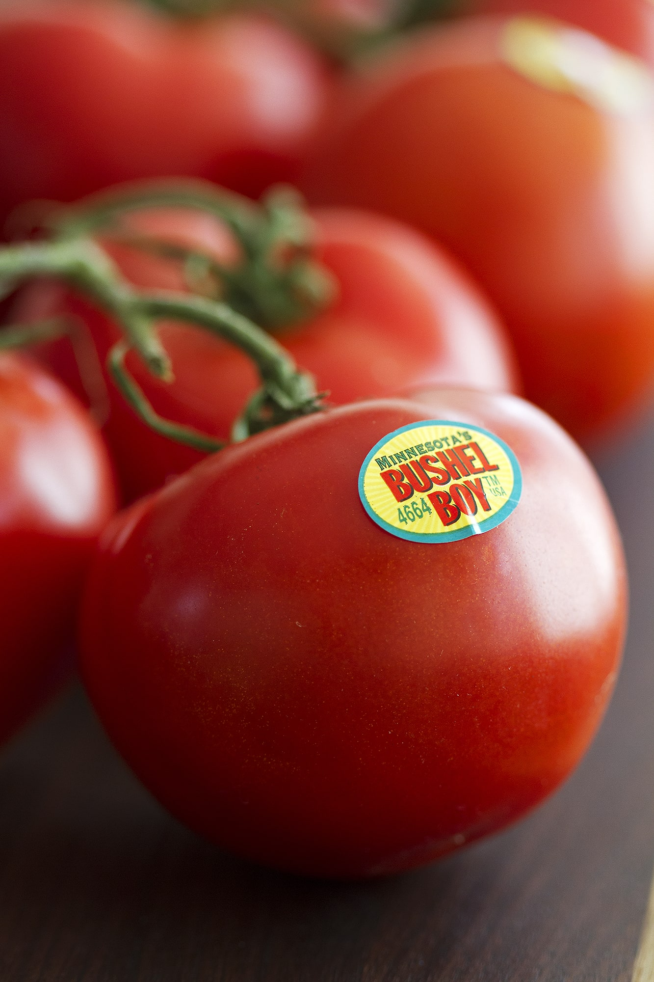 tomato with bushel boy sticker