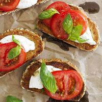 caprese sandwiches with burrata cheese