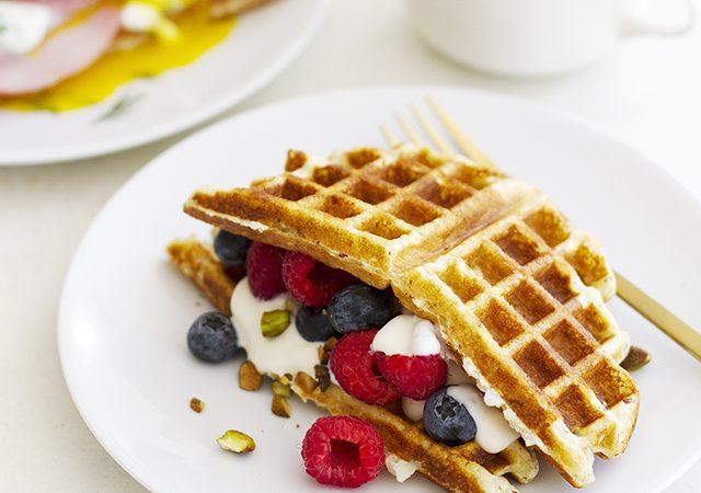 gluten free waffle sandwiches