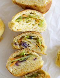 broccoli cheese pull-apart sweet potato rolls