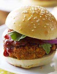 smoky BBQ veggie burgers