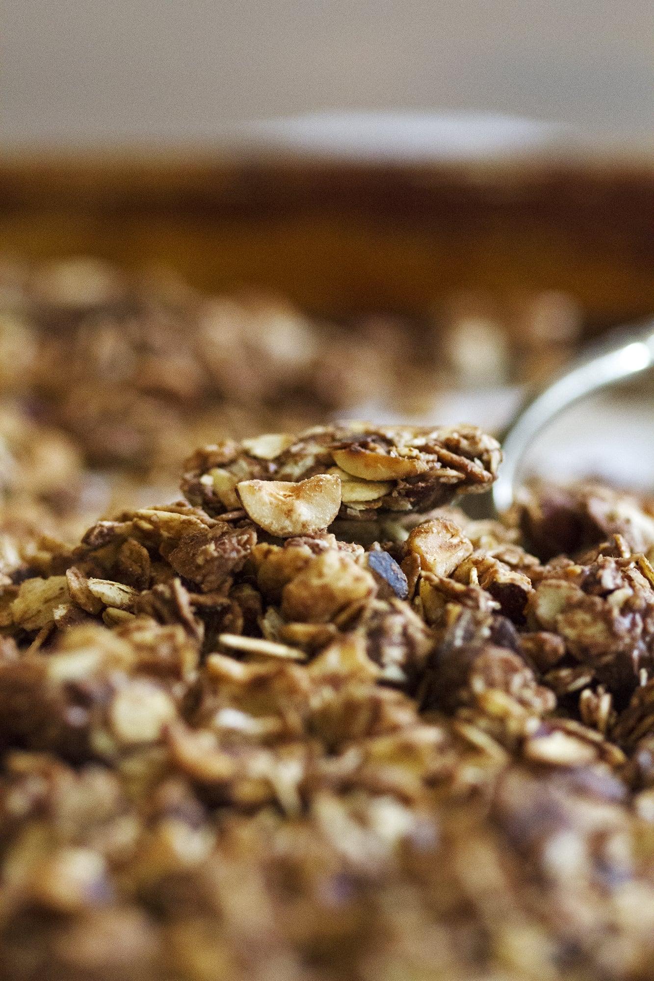spoonful of nutella granola