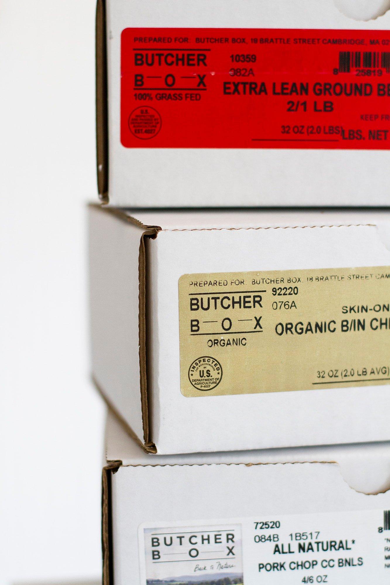 butcher box boxes