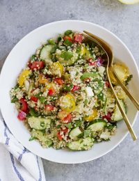 summer vegetable quinoa tabbouleh