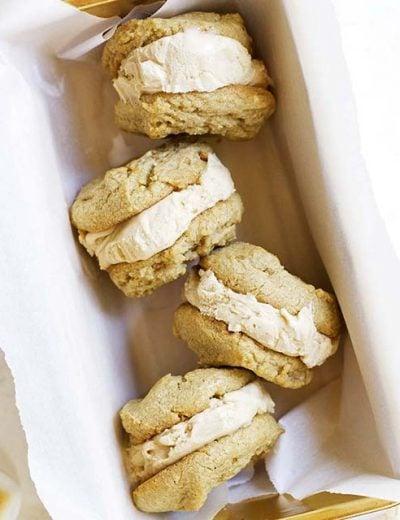 toasted marshmallow peanut butter ice cream sandwiches