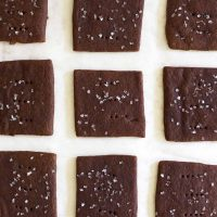 chocolate graham crackers on parchment paper