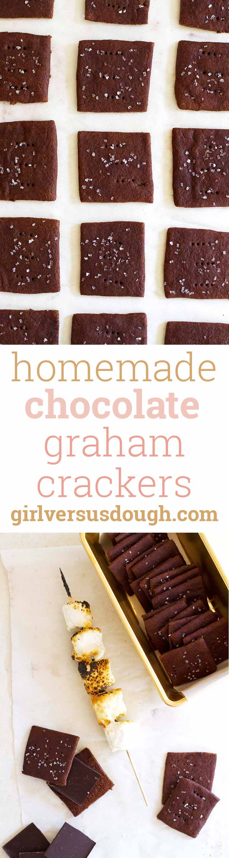 Homemade Chocolate Graham Crackers -- Deliciously thin, chocolatey and ...