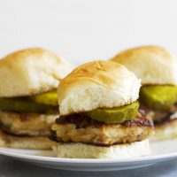 southern style chicken sandwiches on a plate