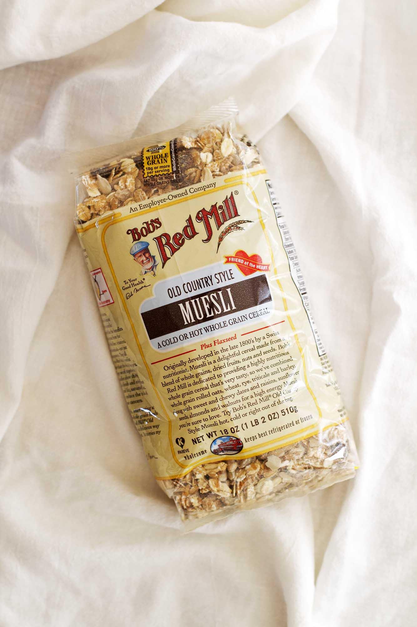 bag of bob's red mill muesli