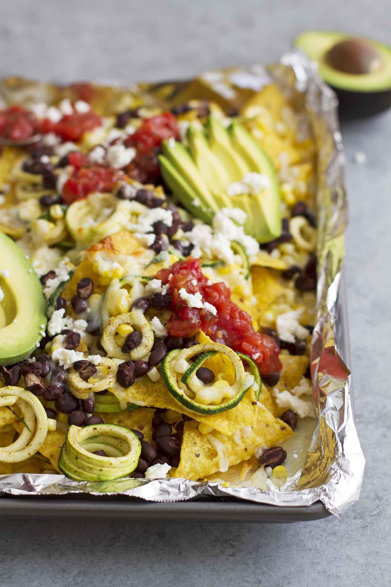 spiralized zucchini nachos