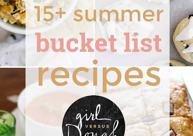 summer bucket list recipes