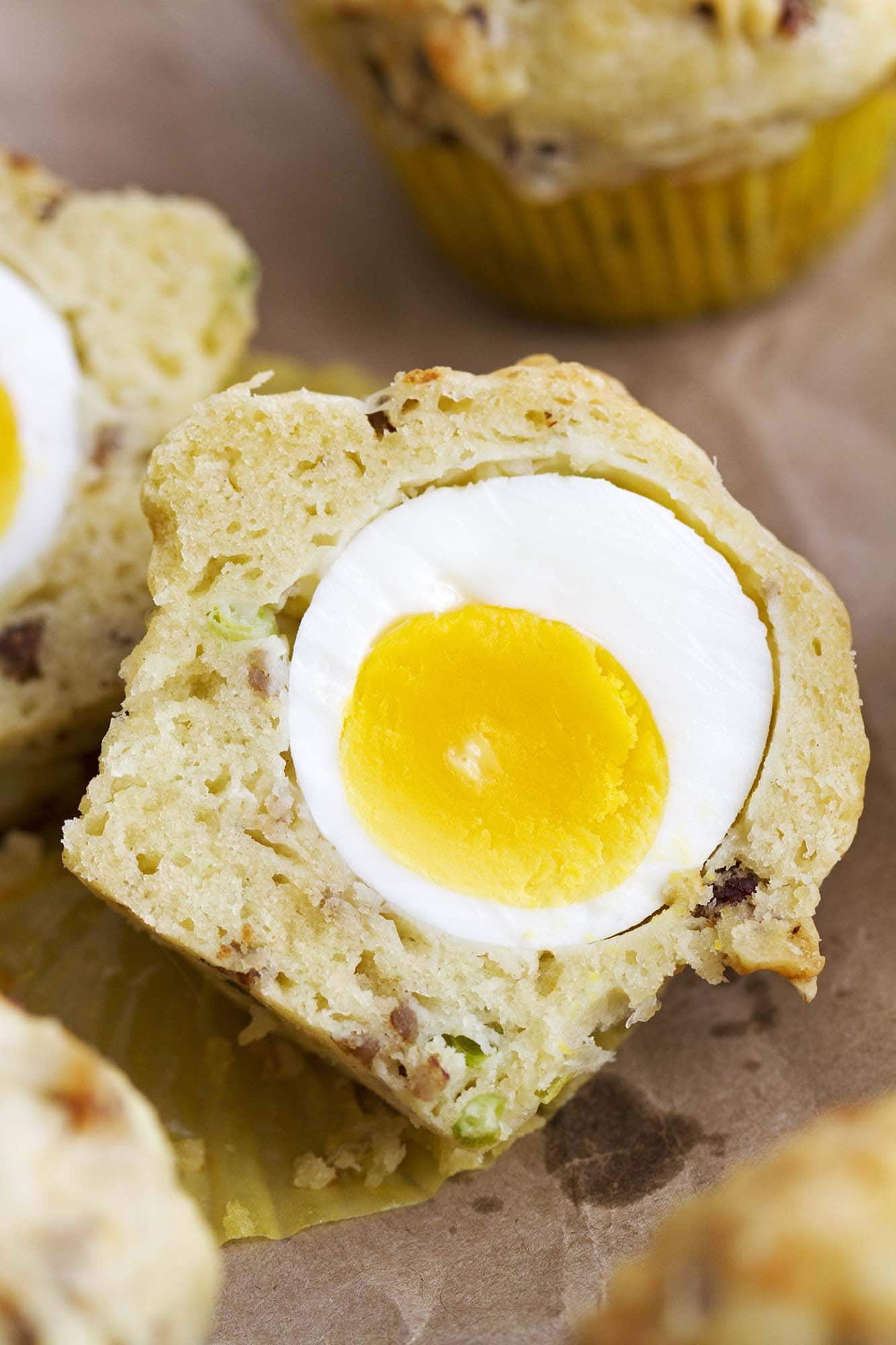 close up breakfast egg muffin