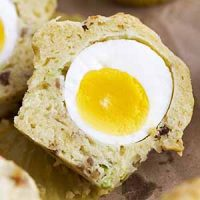 breakfast egg muffin close up