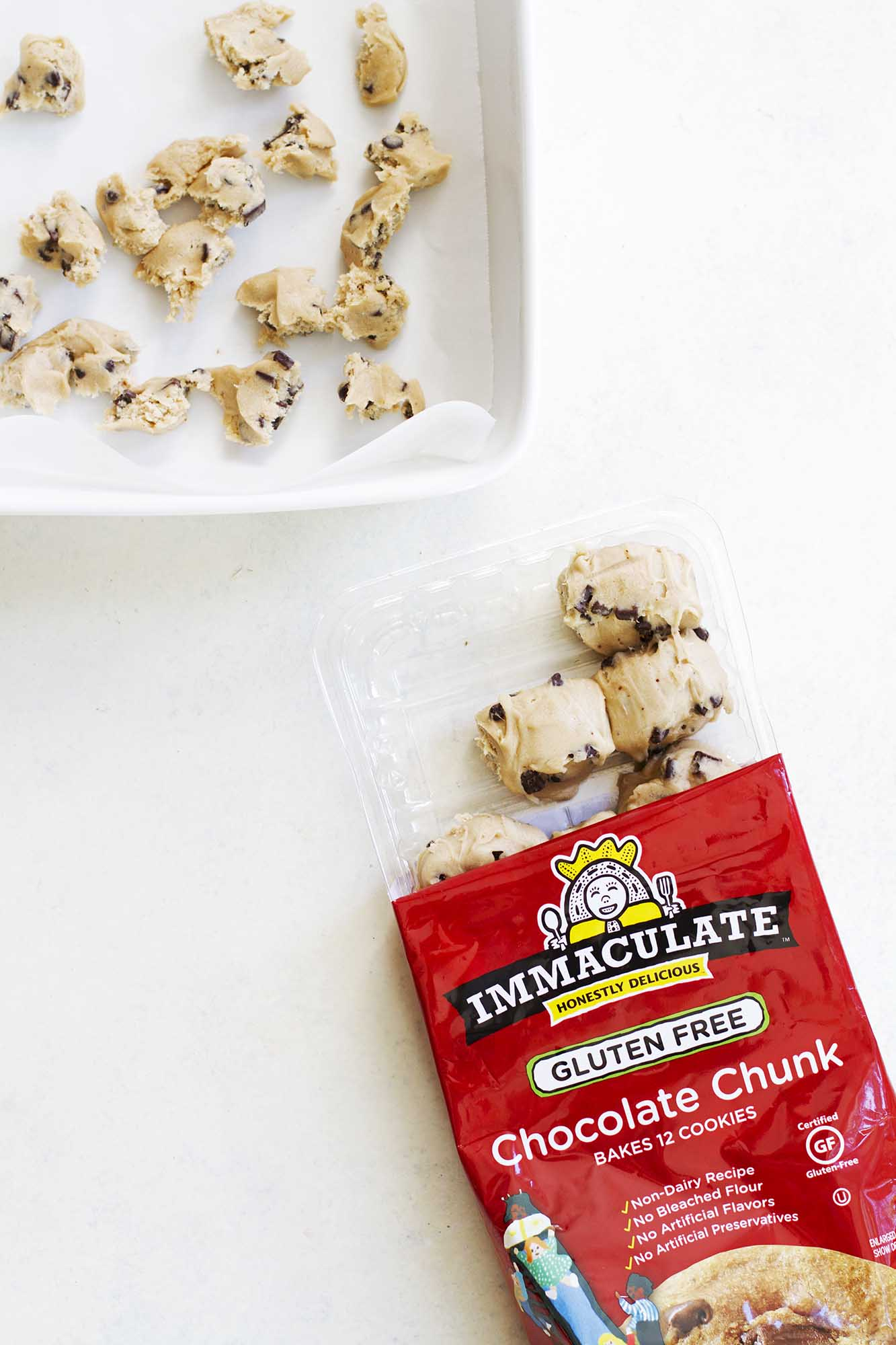 Immaculate Baking chocolate chunk gluten free cookie dough