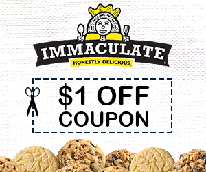 Get $1 Off Immaculate Baking Co. Products