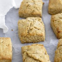 lemon poppy seed biscuits on parchment paper