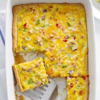 denber omelette crescent bake in baking dish