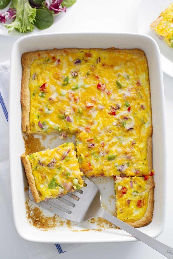 denber omelette crescent bake in baking dish
