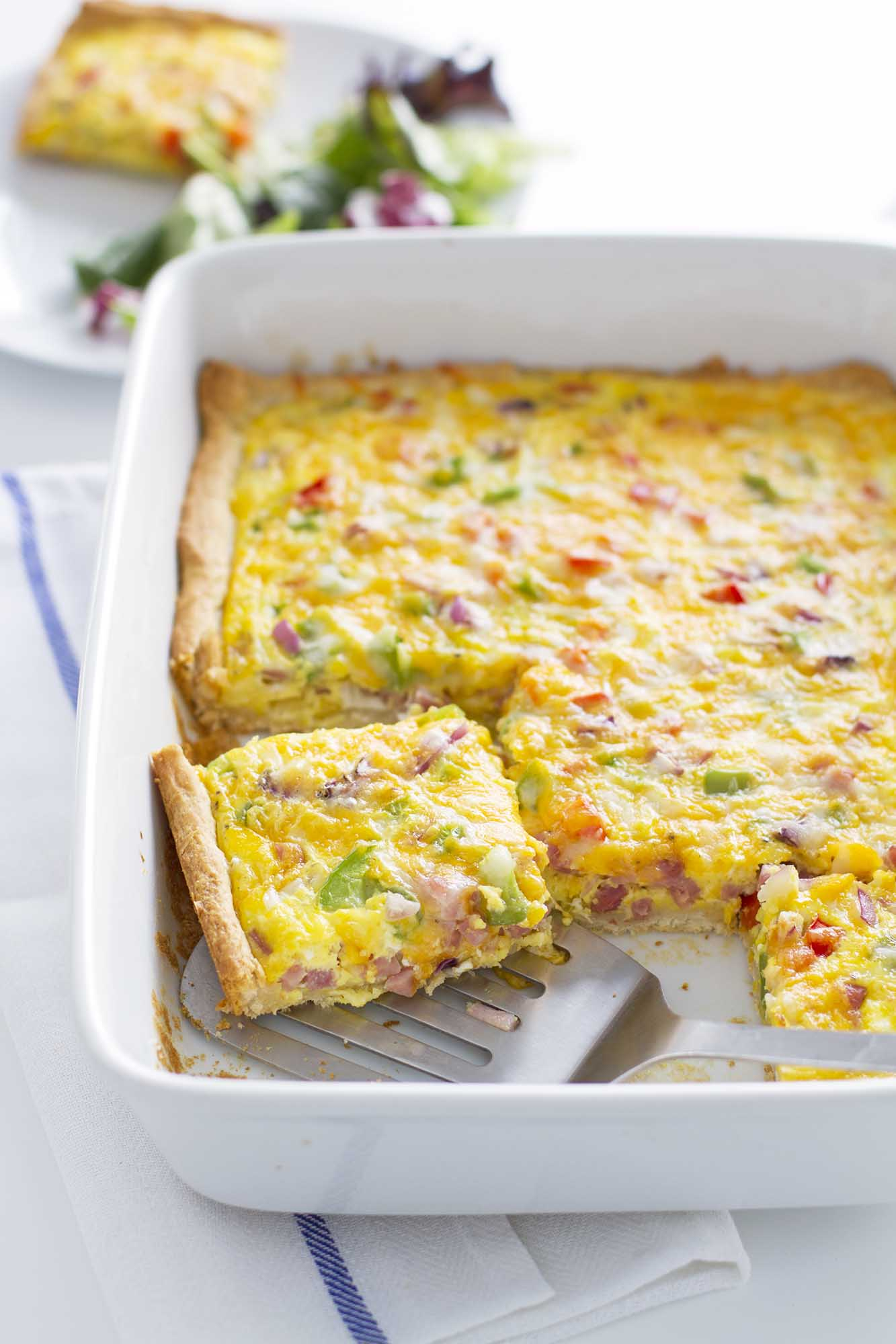 Denver omelette crescent bake in baking dish