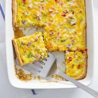 Denver omelette crescent bake in dish