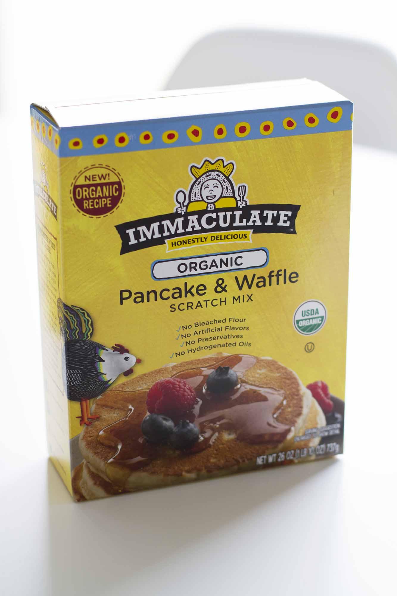 immaculate baking pancake waffle mix box