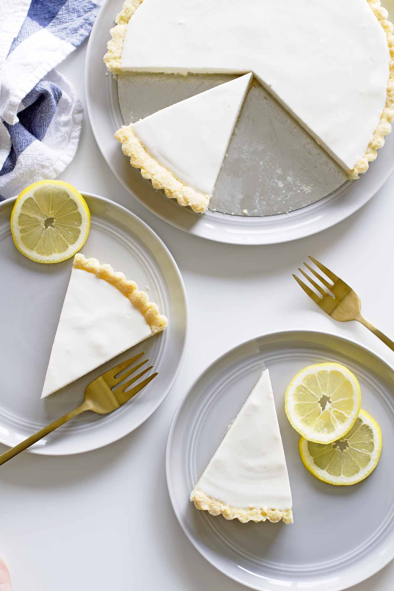 lemon buttermilk sugar cookie tarts on plates