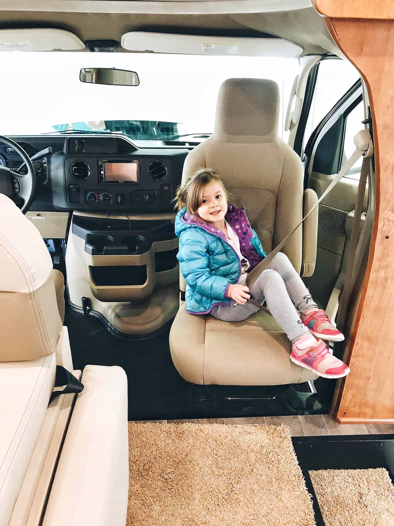 child in rv seat