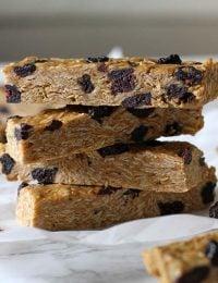 no bake blueberry peanut butter granola bars