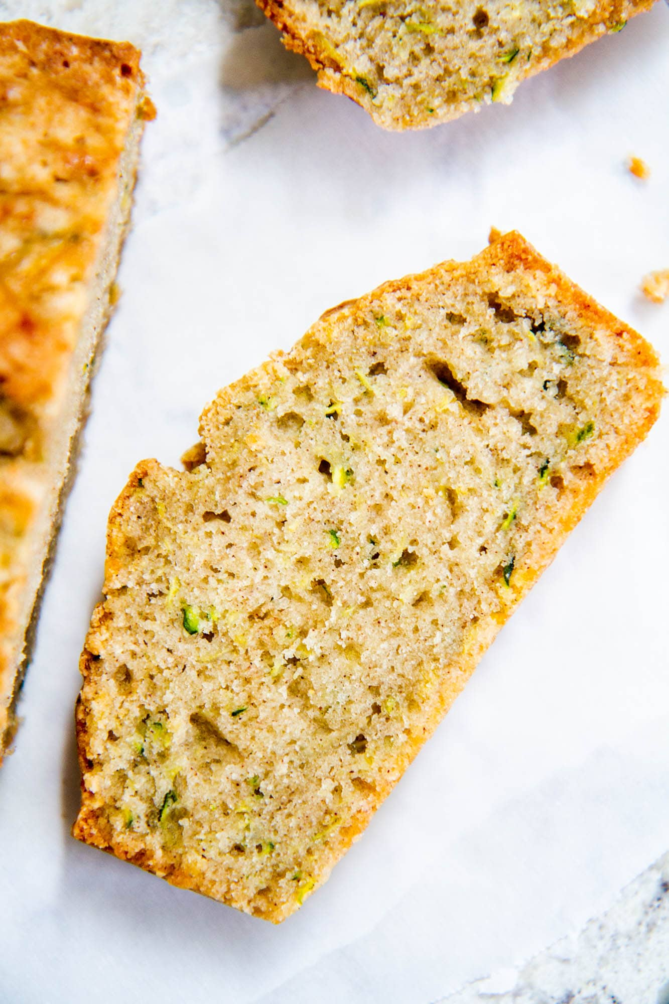 slice of zucchini bread