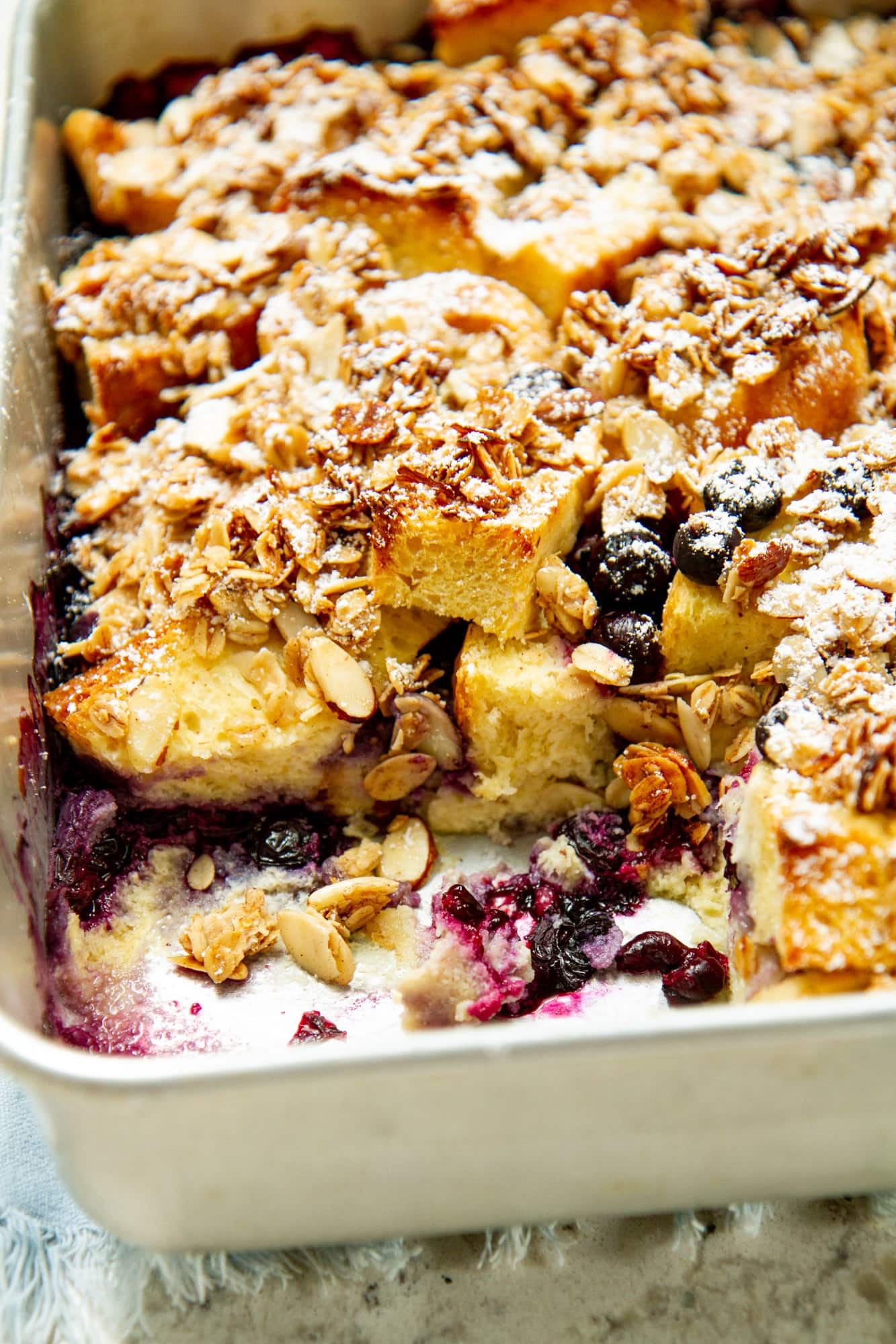 Blueberry Brioche French Toast Casserole Recipe Girl Versus Dough