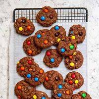brownie monster cookies