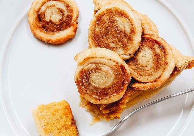 cinnamon swirl pumpkin pie