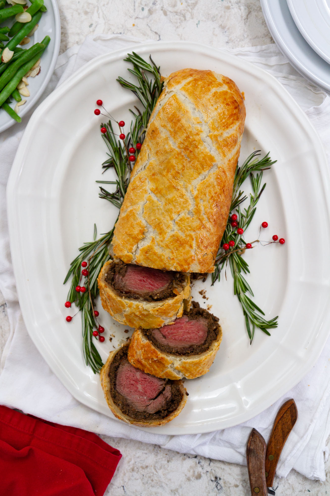 Beef Wellington -- Need a jaw-dropping, show stopping dish for the holidays? This Beef Wellington is the perfect recipe to do just that. @girlversusdough #girlversusdough #BeefItsWhatsForDinner #BeefUpTheHolidays #NicelyDone