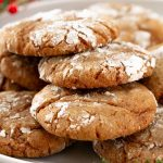 soft gingerbread crinkle cookies